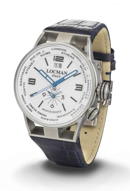 Locman orologio uomo modello Montecristo Dual Time 0508A08S-00WHBKPB