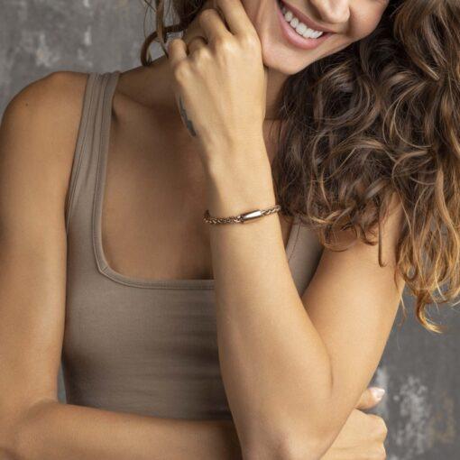 Idea regalo donna bracciale Breil Magnetica System Rose Gold TJ2934