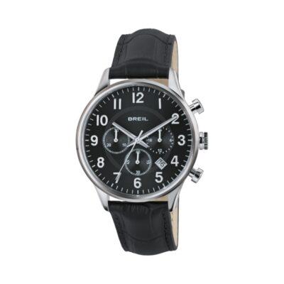 Breil uomo, orologio cronografo Contempo in pelle nera TW1577