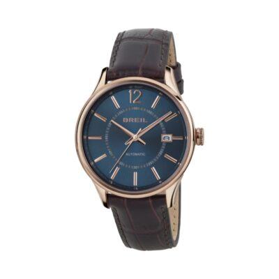 Breil uomo, orologio Contempo Automatico Solo Tempo in pelle marrone TW1557