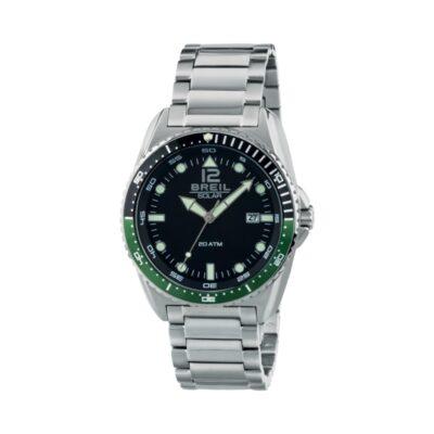 Breil orologio uomo Subacqueo solare solo tempo in acciaio TW1754
