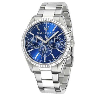 Maserati idea regalo uomo: orologio multifunzione collezione Competizione in acciaio blu R8853100013