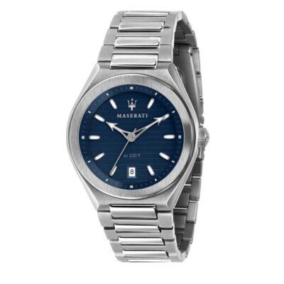 Orologi Maserati uomo, collezione Triconic, Solo tempo, acciaio e blu R8853139002