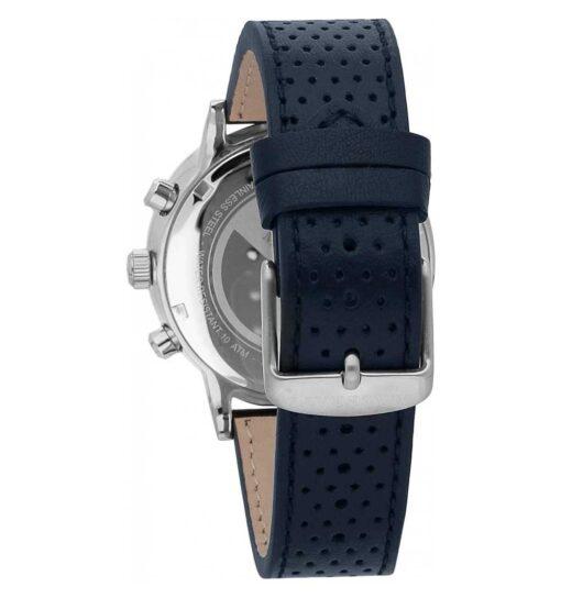 Cronografo Maserati Energia Solare in acciaio e pelle blu R8871134002