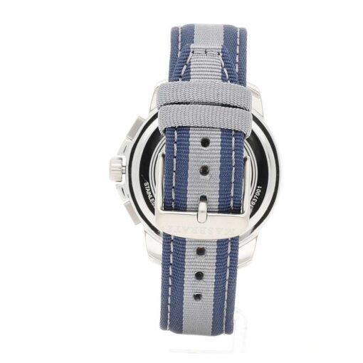 Orologio Maserati da uomo, cronografo collezione Royale, acciaio e nylon blu e grigio R8871637001
