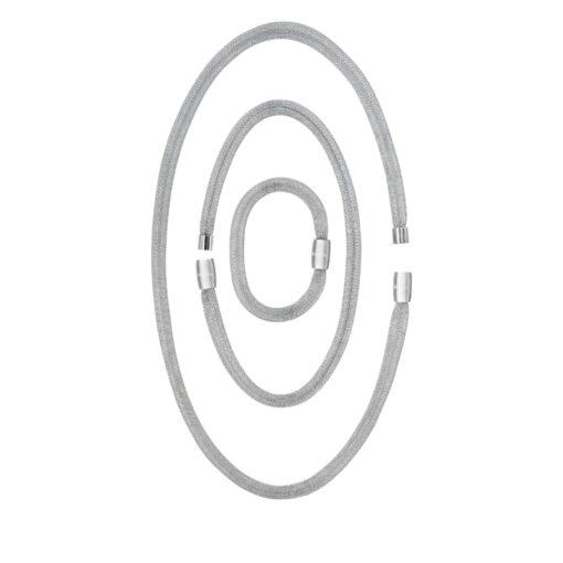 Collana Donna Breil Magnetica System Soft Set 3 elementi in acciaio trasformabili TJ2971