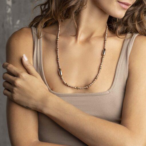 Idea regalo donna collana girocollo Breil Magnetica System Medium Sun Acciaio Oro Rosa TJ2937