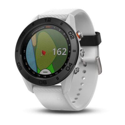 Orologio Garmin Approach S60 Bianco con cinturino in silicone bianco 010-01702-01