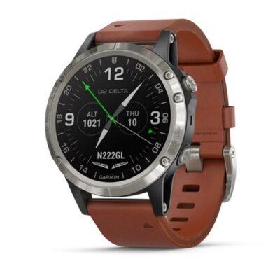 Orologio Garmin Pilot D2 Delta Aviator Watch Brown 010-01988-31