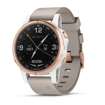 Orologio Garmin Pilot D2 Delta S Aviator Watch Pelle Beige 010-01987-31