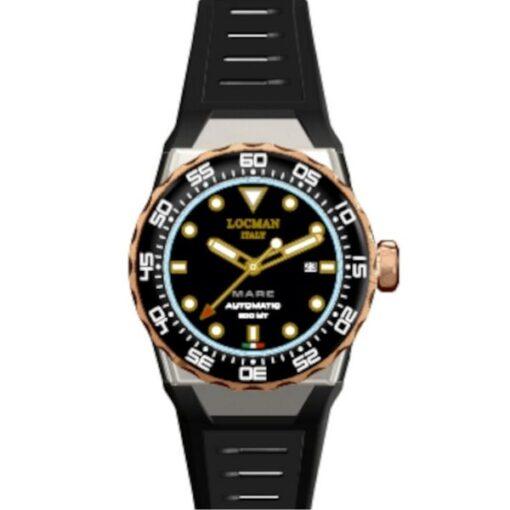 Orologio Locman - modello Nuovo Mare 0559M01R-0RBKRGSK2- offerta - sconto - orologio di classe - orologio da immersione - locman - gioelleria cuatto - bussoleno - provincia di Torino -